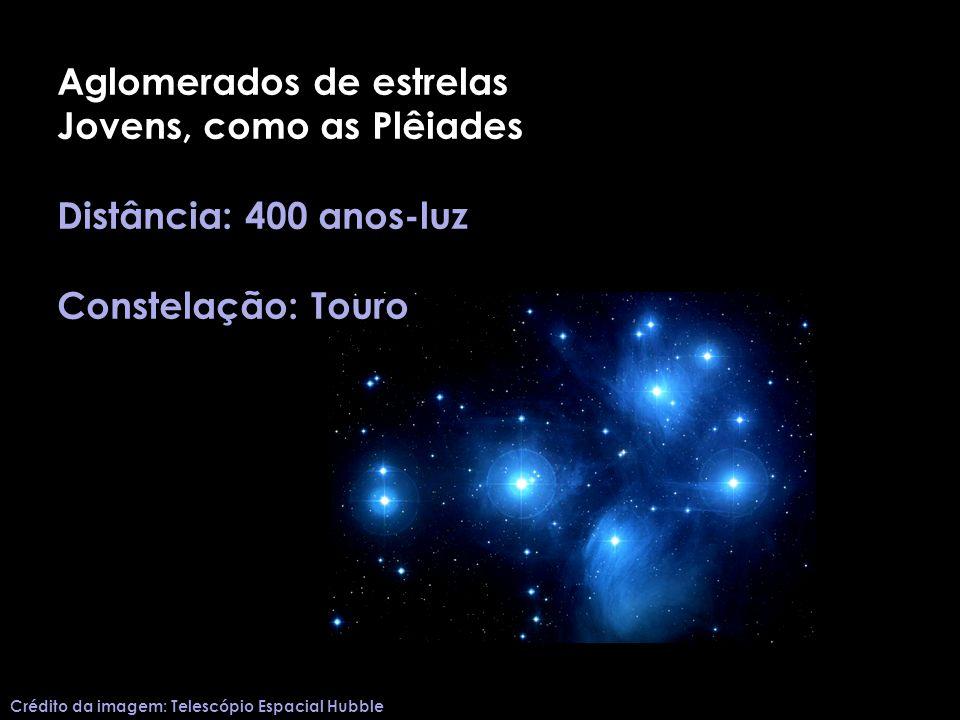 Aglomerados de estrelas Jovens, como as Plêiades