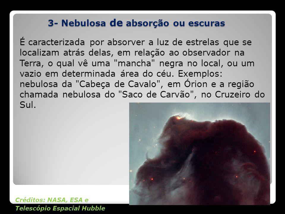 3- Nebulosa de absorção ou escuras