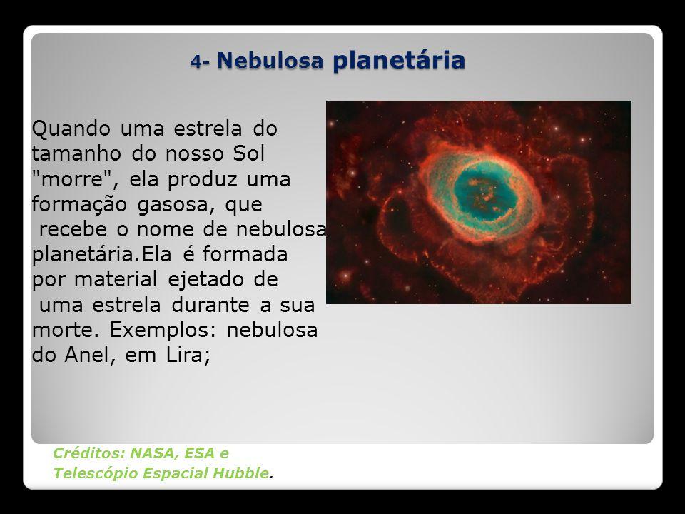 recebe o nome de nebulosa planetária.Ela é formada