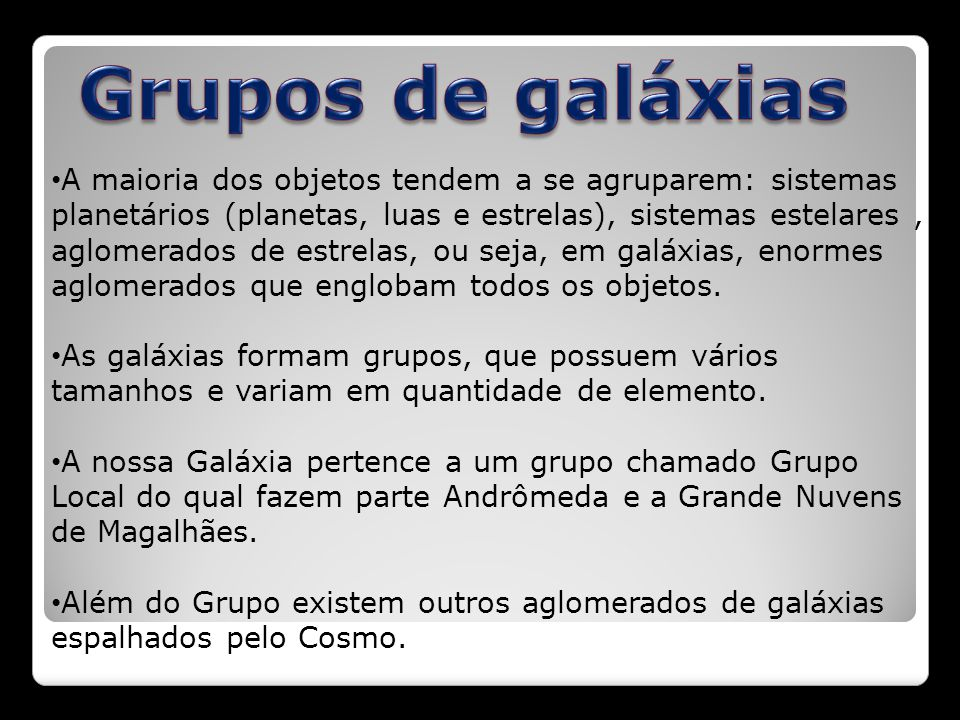 Grupos de galáxias