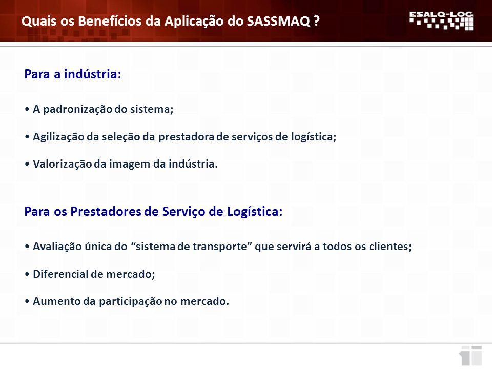 Quais os Benefícios da Aplicação do SASSMAQ