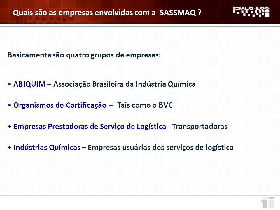 Quais são as empresas envolvidas com a SASSMAQ