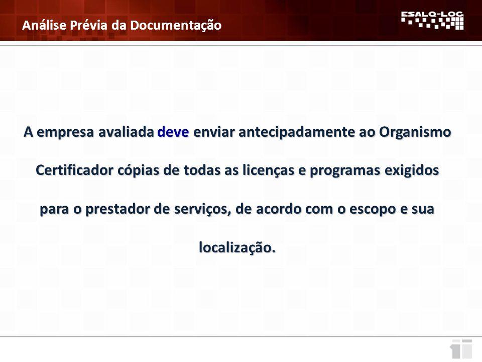 Análise Prévia da Documentação