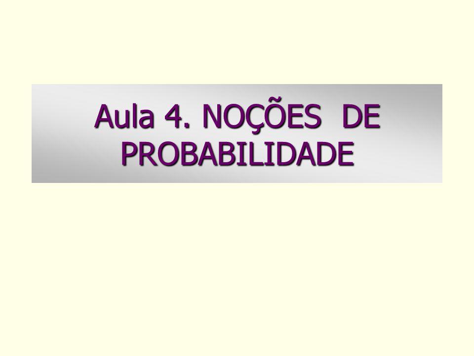 Aula 4. NOÇÕES DE PROBABILIDADE