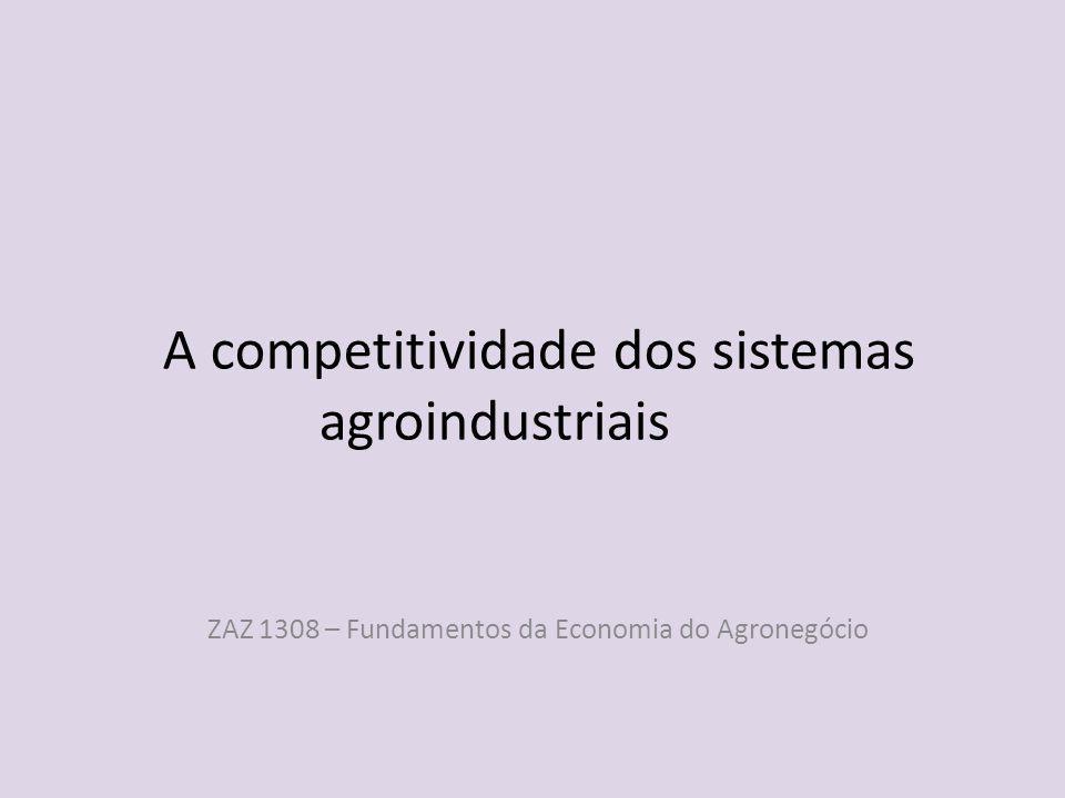 A competitividade dos sistemas agroindustriais
