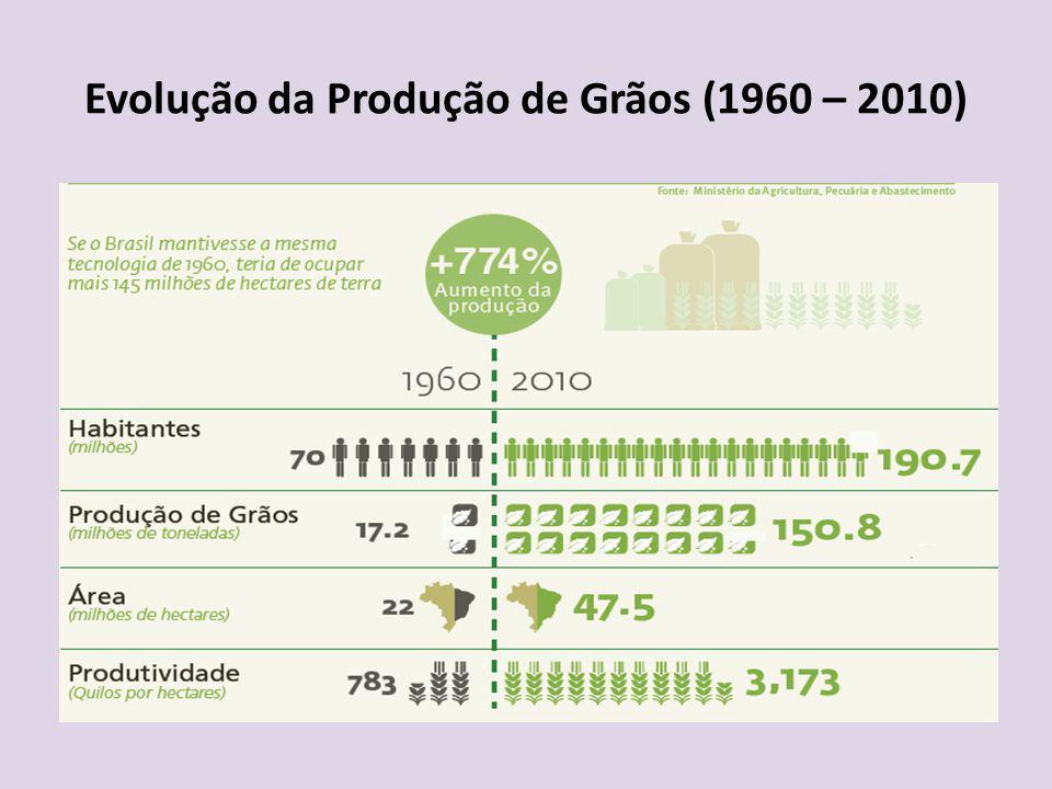 Evolução da Produção de Grãos (1960 – 2010)