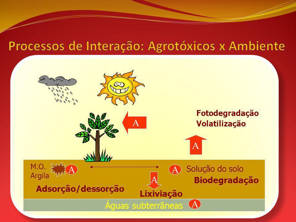 Processos de Interação: Agrotóxicos x Ambiente