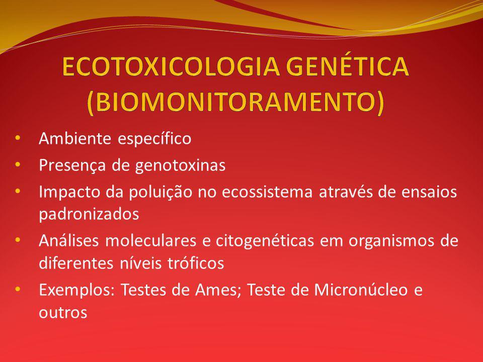 ECOTOXICOLOGIA GENÉTICA (BIOMONITORAMENTO)