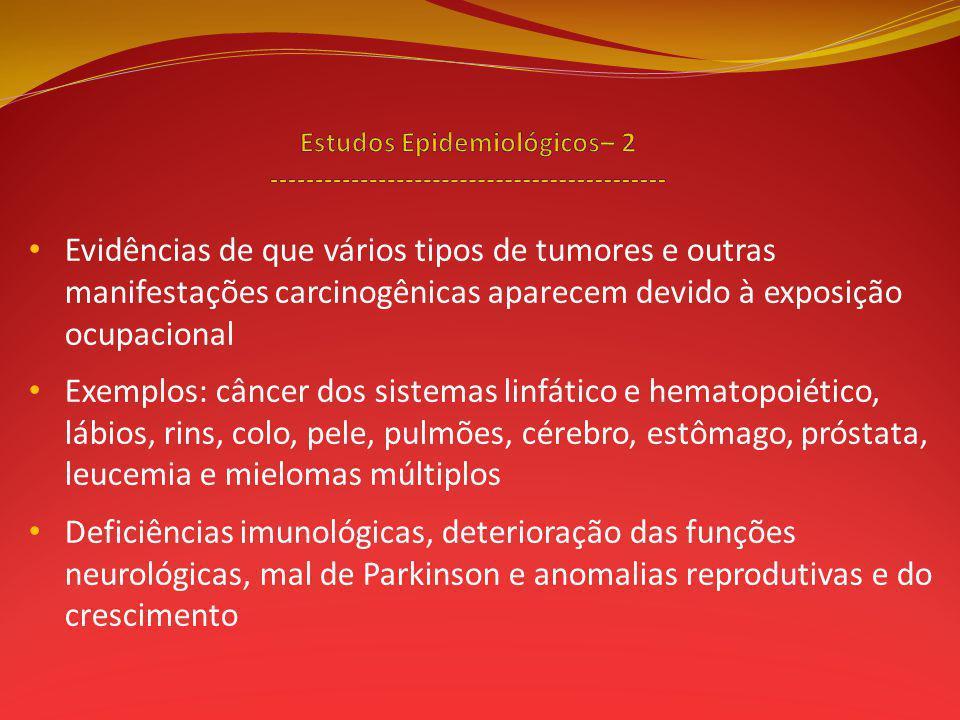 Estudos Epidemiológicos– 2 --------------------------------------------