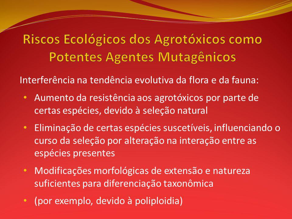 Riscos Ecológicos dos Agrotóxicos como Potentes Agentes Mutagênicos