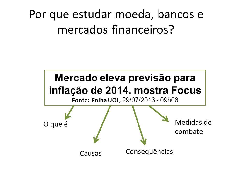 Por que estudar moeda, bancos e mercados financeiros