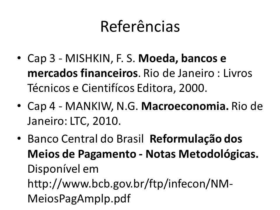 Referências Cap 3 - MISHKIN, F. S. Moeda, bancos e mercados financeiros. Rio de Janeiro : Livros Técnicos e Cientifícos Editora, 2000.