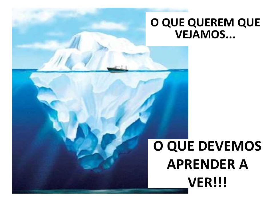 O QUE DEVEMOS APRENDER A VER!!!