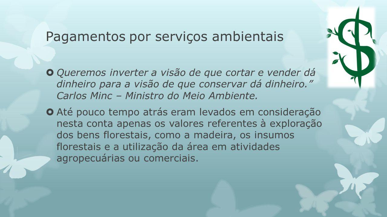 Pagamentos por serviços ambientais