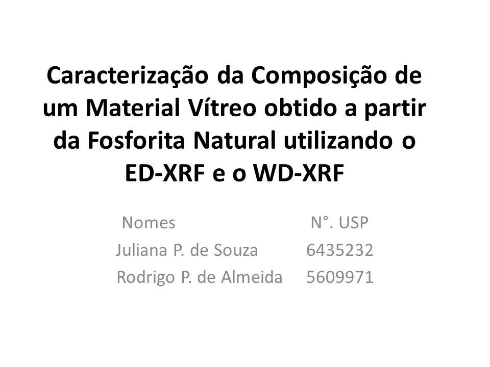 Caracterização da Composição de um Material Vítreo obtido a partir da Fosforita Natural utilizando o ED-XRF e o WD-XRF