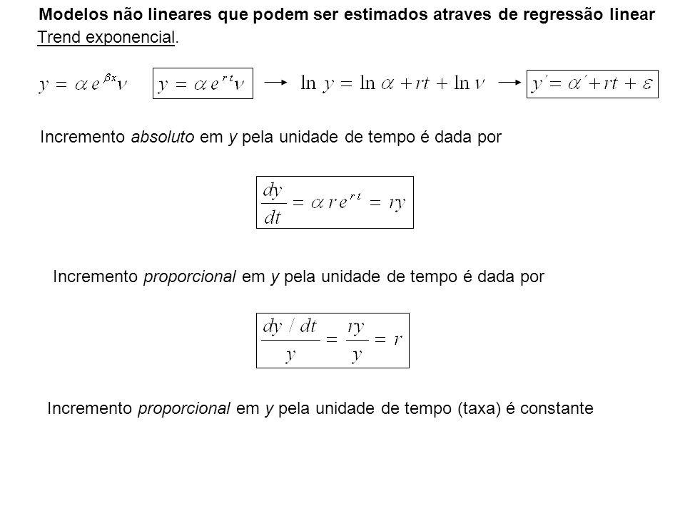 Modelos não lineares que podem ser estimados atraves de regressão linear