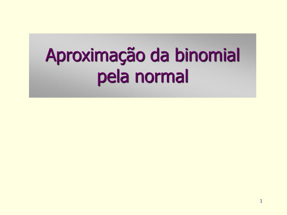 Aproximação da binomial pela normal