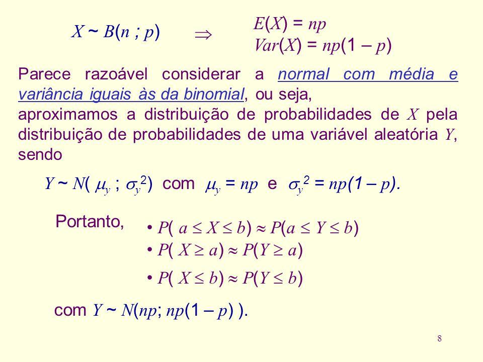 E(X) = np X ~ B(n ; p)  Var(X) = np(1 – p)