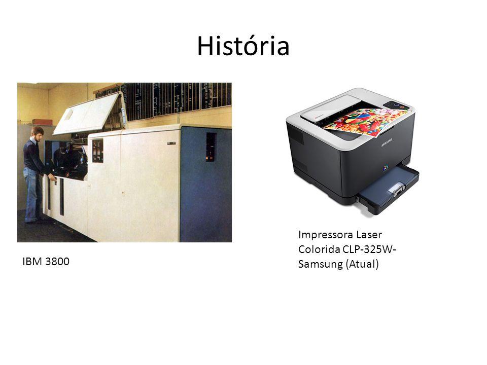 História Impressora Laser Colorida CLP-325W- Samsung (Atual) IBM 3800
