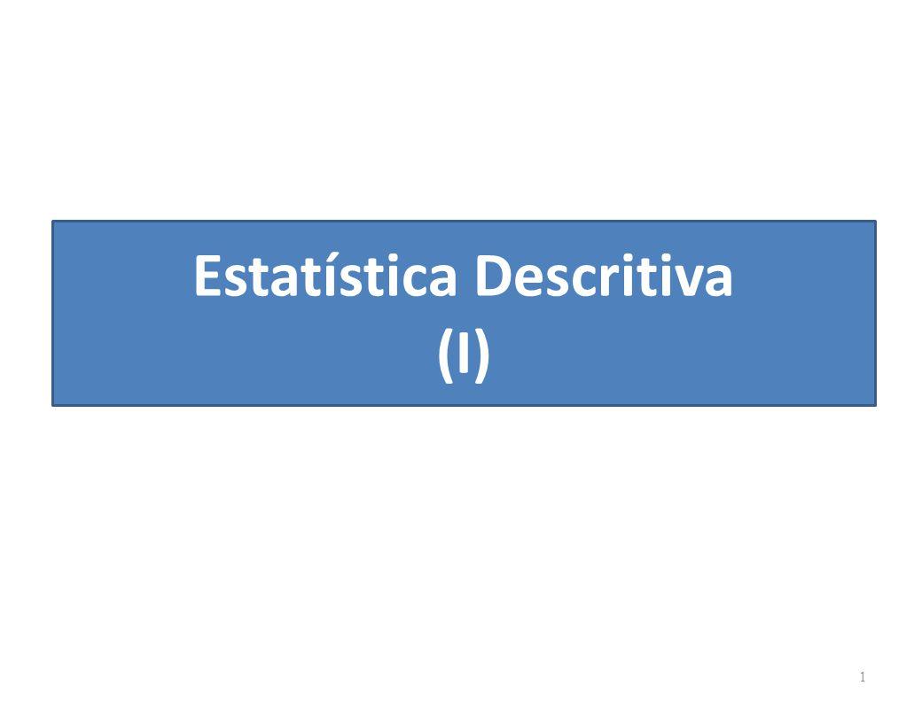 Estatística Descritiva (I)