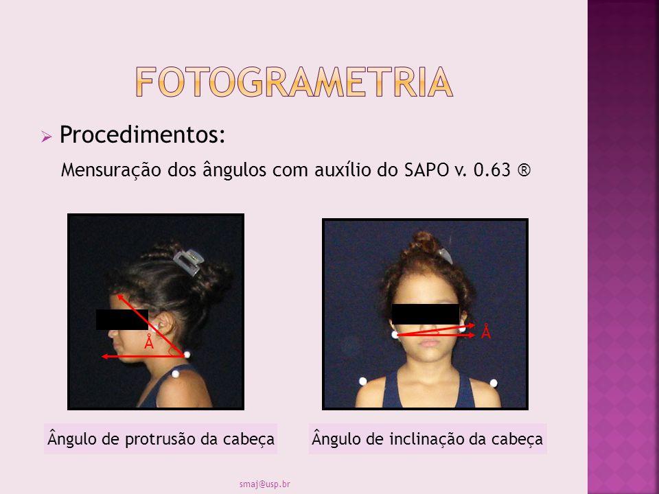 fotogrametria Procedimentos: