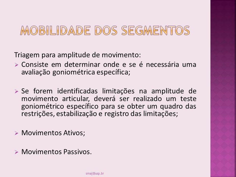 Mobilidade dos segmentos