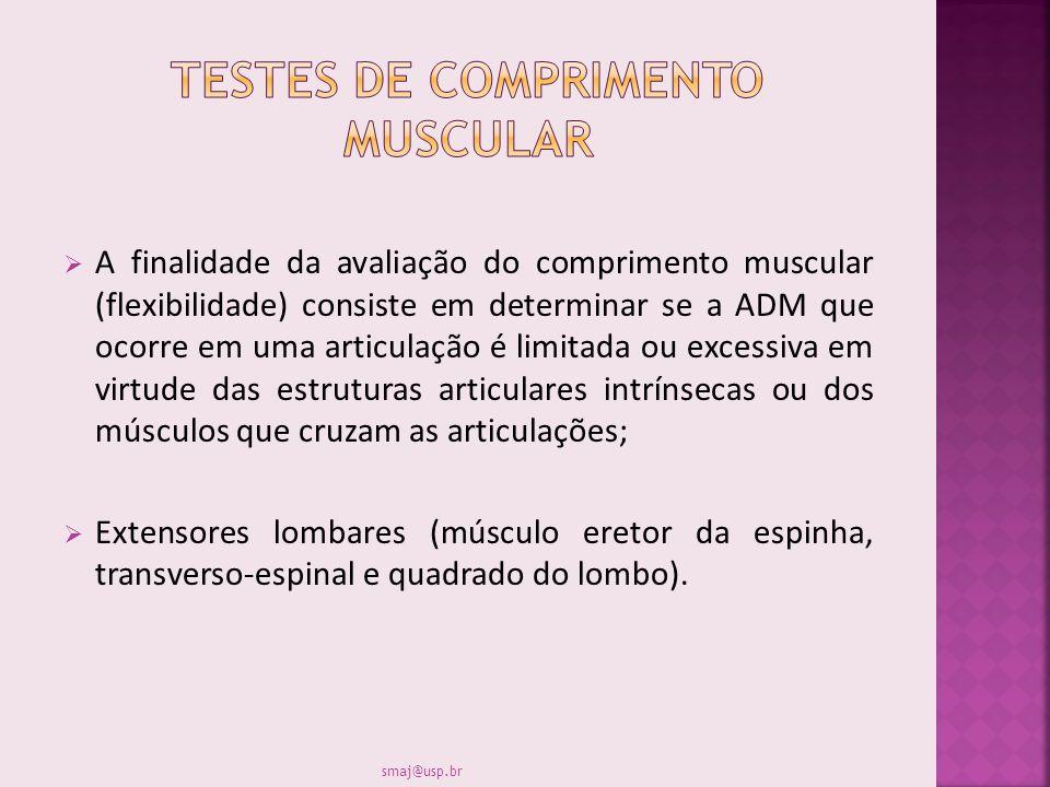 Testes de comprimento muscular