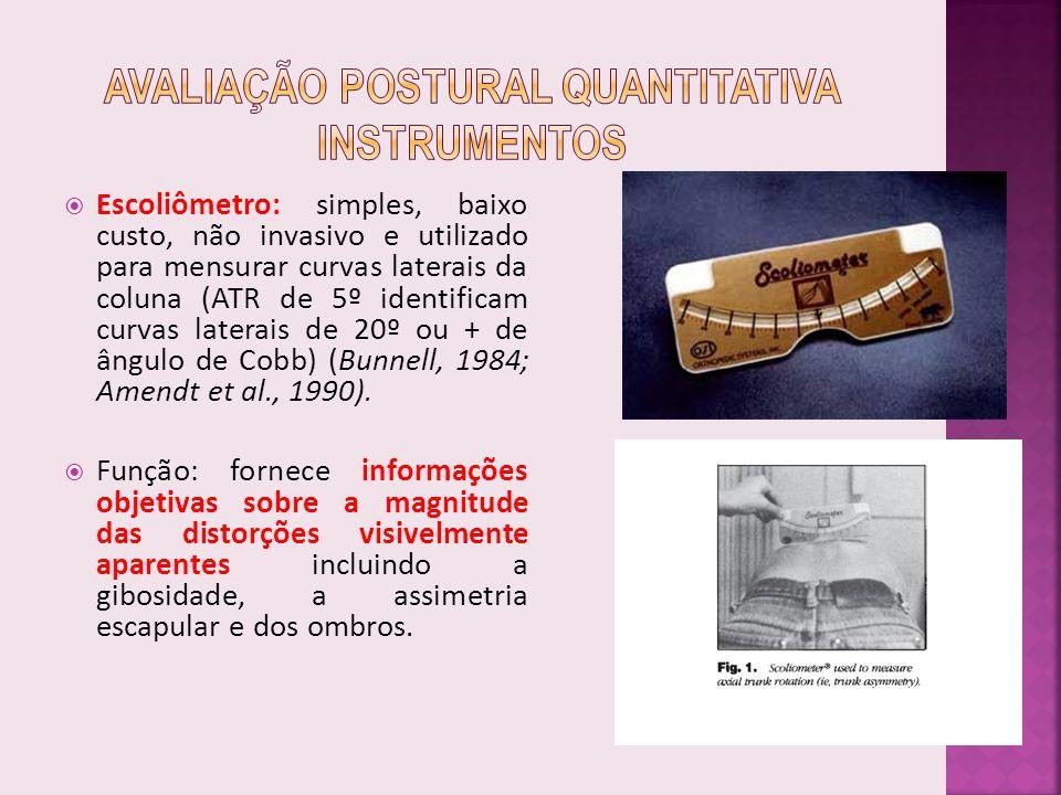 Avaliação Postural Quantitativa Instrumentos