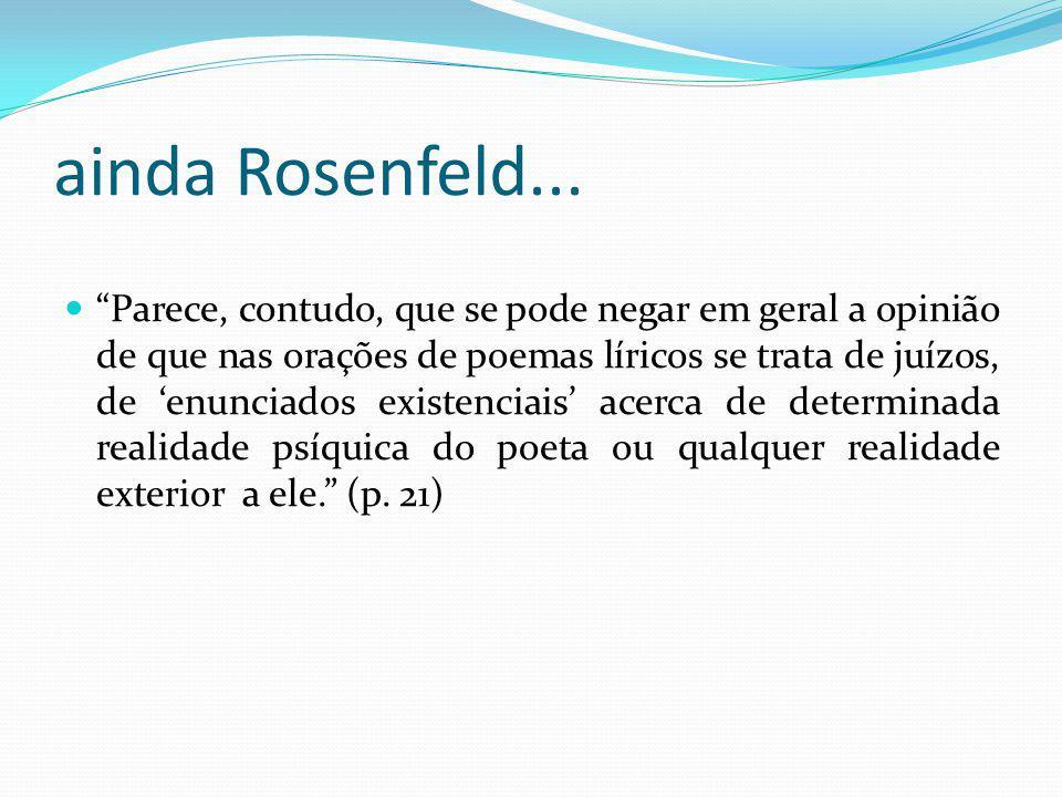 ainda Rosenfeld...