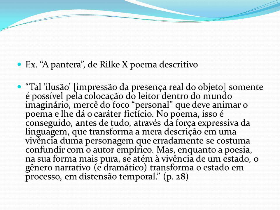 Ex. A pantera , de Rilke X poema descritivo