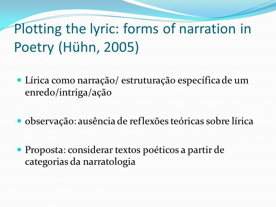 Plotting the lyric: forms of narration in Poetry (Hühn, 2005)