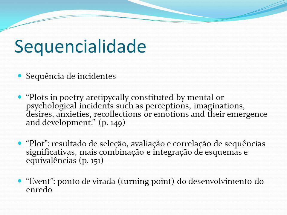 Sequencialidade Sequência de incidentes