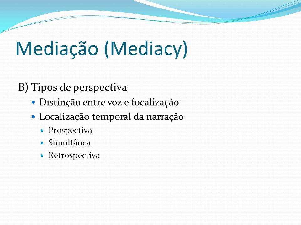 Mediação (Mediacy) B) Tipos de perspectiva