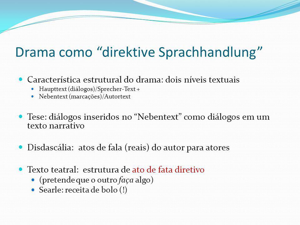 Drama como direktive Sprachhandlung