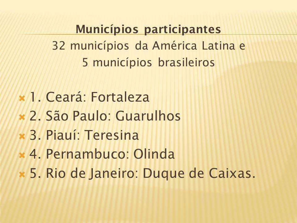 Municípios participantes