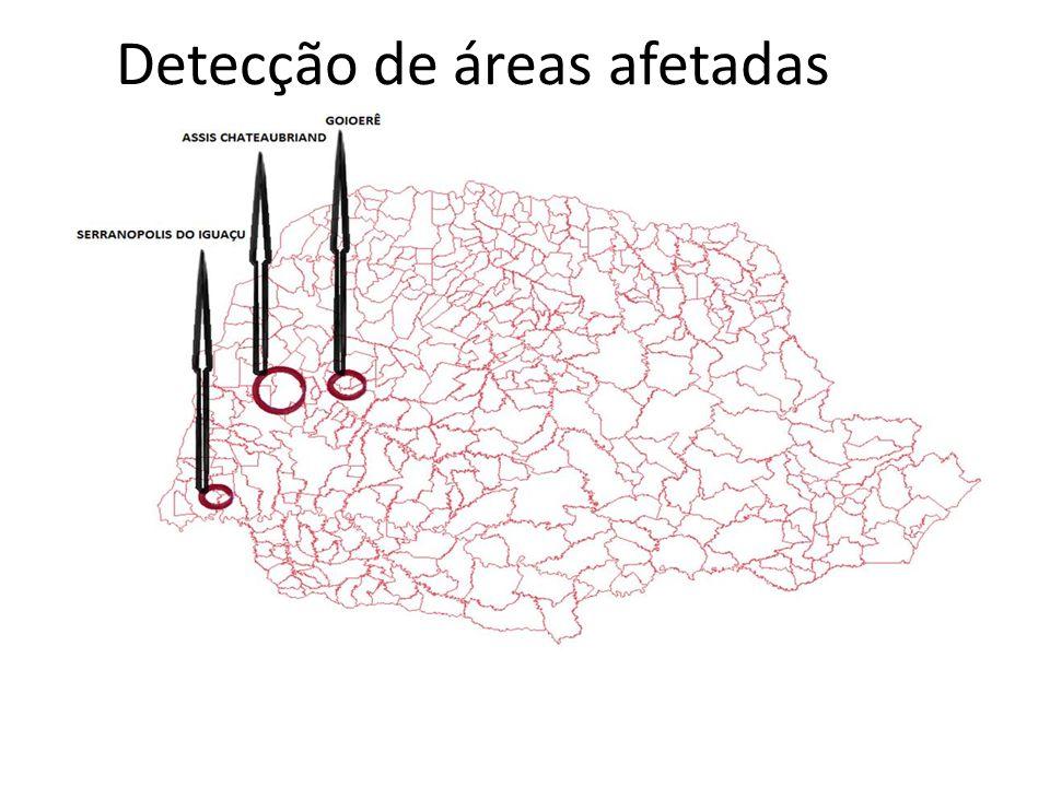 Detecção de áreas afetadas