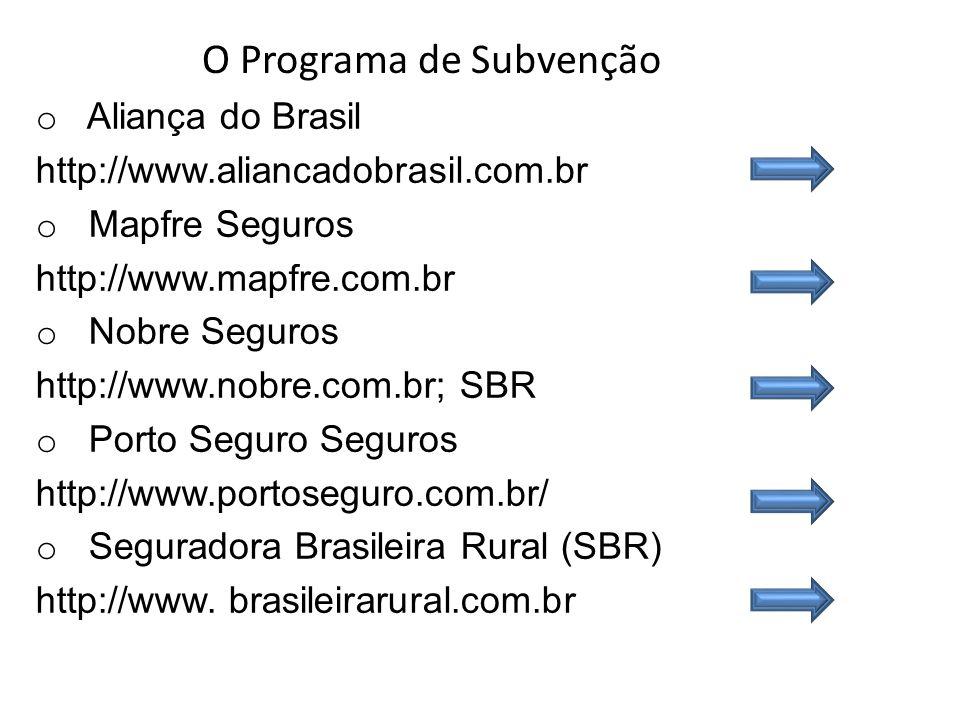 O Programa de Subvenção