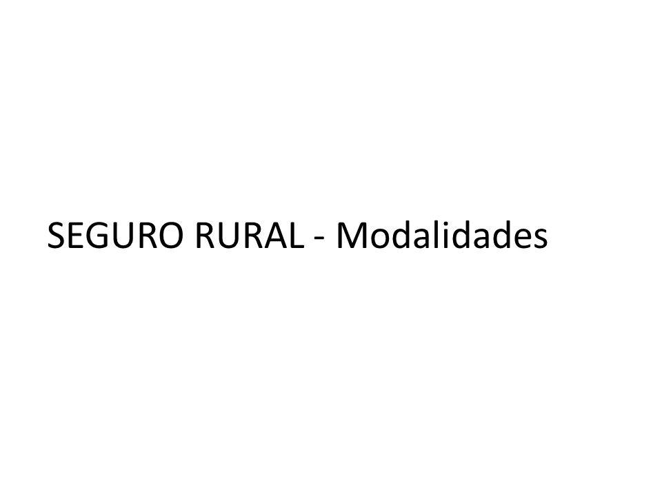 SEGURO RURAL - Modalidades