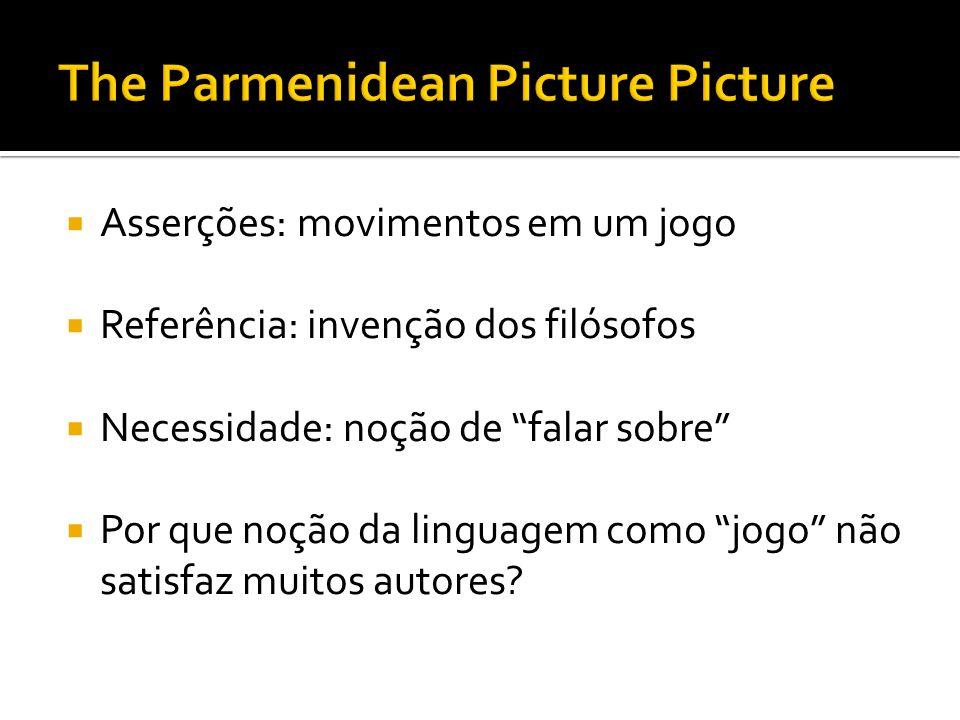 The Parmenidean Picture Picture