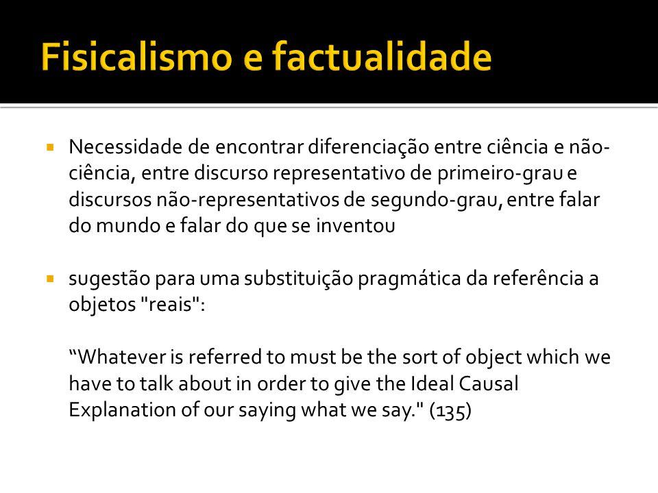 Fisicalismo e factualidade