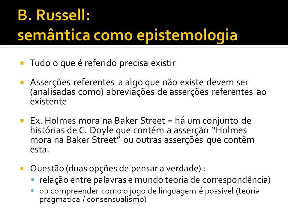 B. Russell: semântica como epistemologia