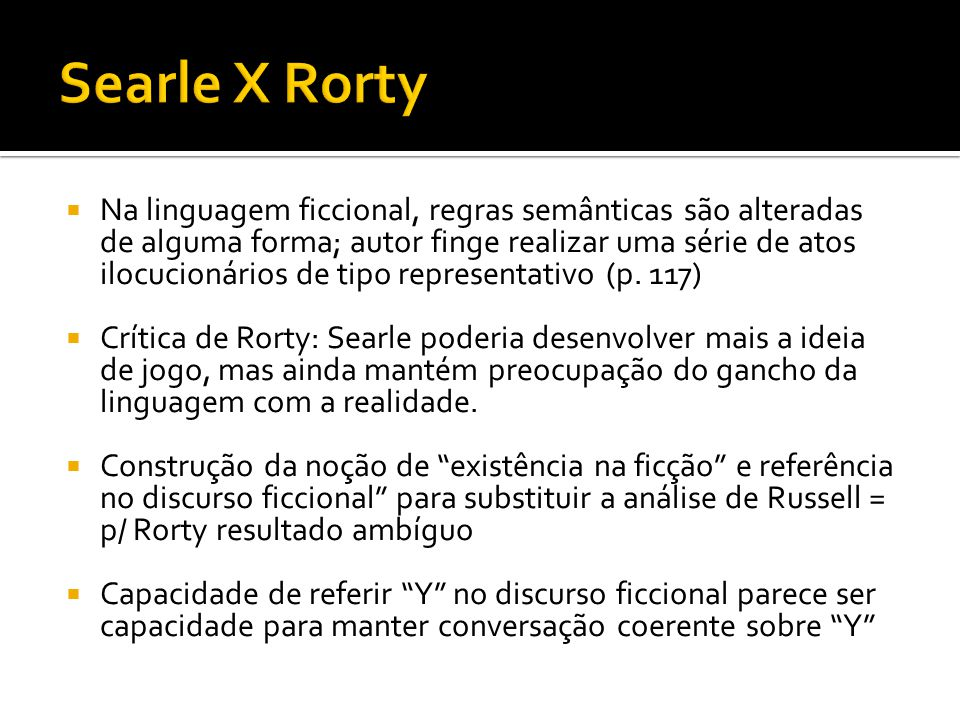 Searle X Rorty