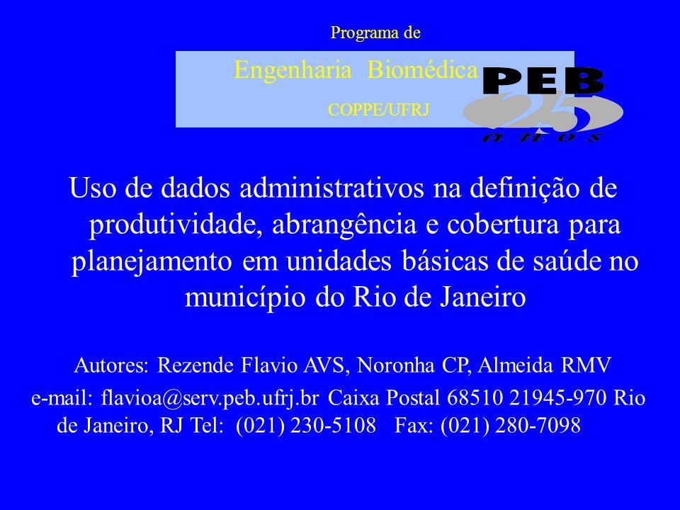 Programa de Engenharia Biomédica COPPE/UFRJ