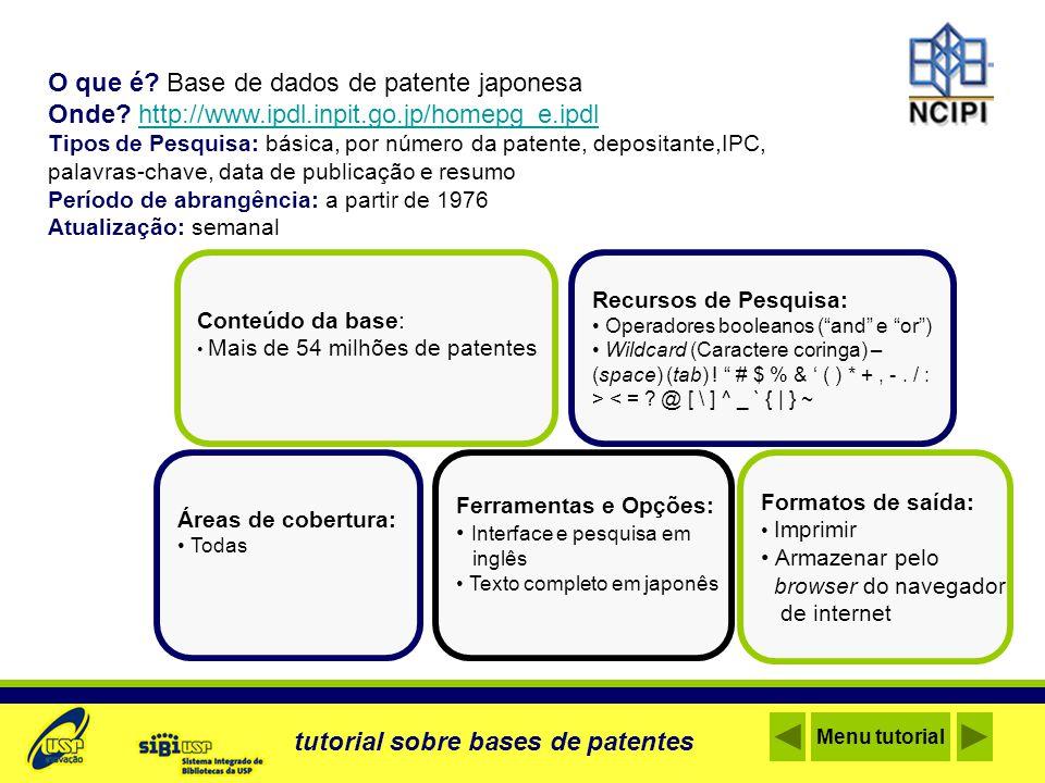 O que é Base de dados de patente japonesa
