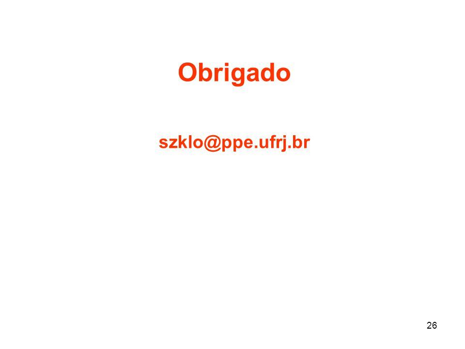 Obrigado szklo@ppe.ufrj.br