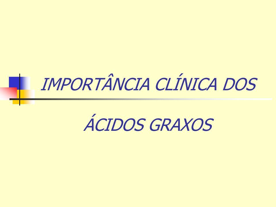 IMPORTÂNCIA CLÍNICA DOS ÁCIDOS GRAXOS