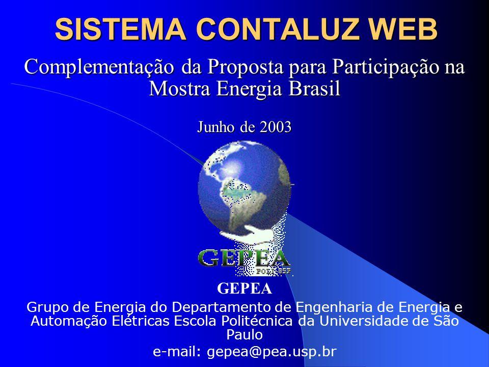 SISTEMA CONTALUZ WEB Complementação da Proposta para Participação na Mostra Energia Brasil. Junho de 2003.
