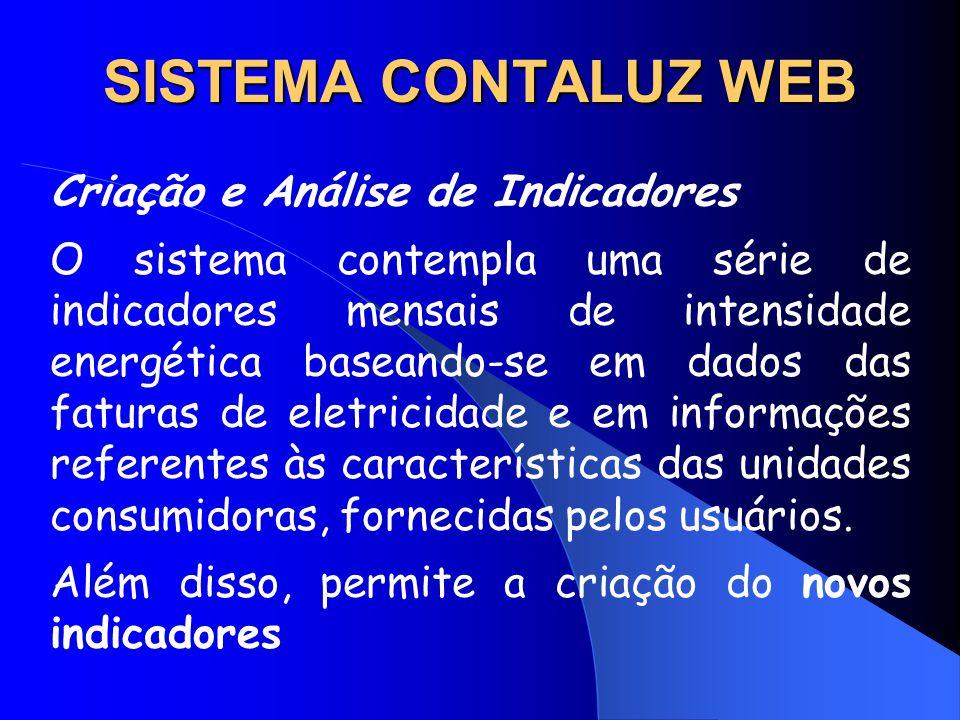 SISTEMA CONTALUZ WEB Criação e Análise de Indicadores