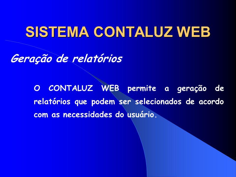 SISTEMA CONTALUZ WEB Geração de relatórios