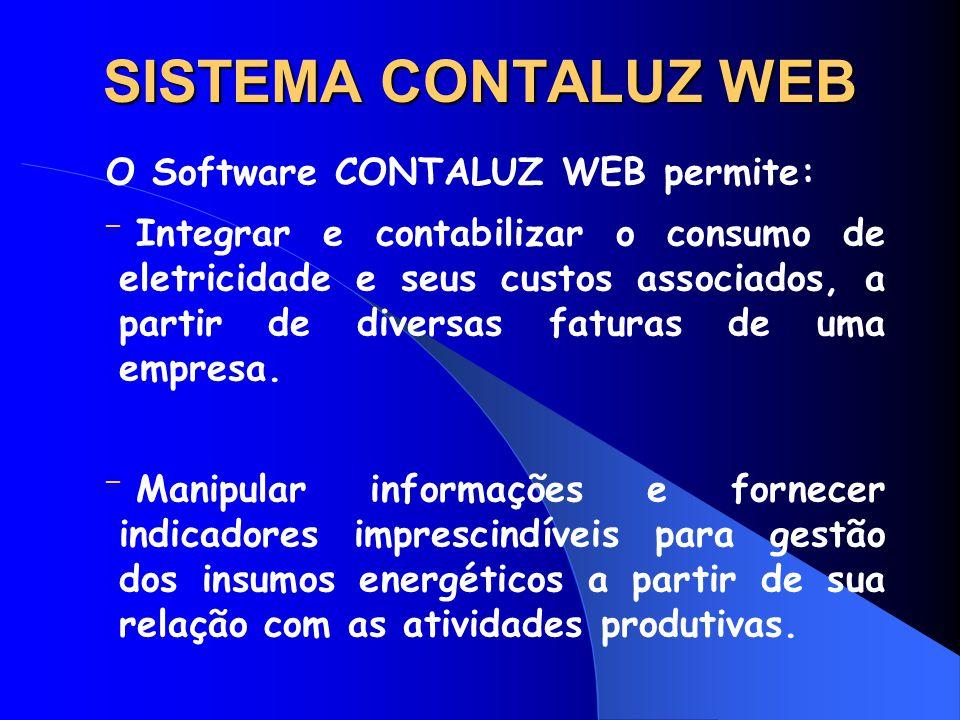 SISTEMA CONTALUZ WEB O Software CONTALUZ WEB permite: